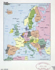Map of Europe Photographic Print Poster Large detailed political map with mark