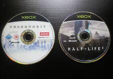 LOT 2 JEUX Microsoft XBOX : FAHRENHEIT + HALF-LIFE 2 (loose, envoi suivi)