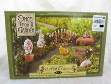 Dollhouse Miniature Easter Garden Village Figurine Figure & Accessories Set