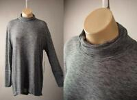 Nordstrom Turtleneck Split Back Speckled Sweater Knit Top 261 mv Pullover S M L