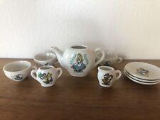 Vintage Walt Disney Alice In Wonderland Toy China Tea Set Made In Japan, Rare!