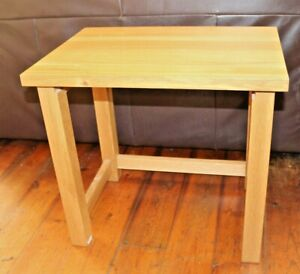 Solid Beech Wood Coffee Table Occasional Bedside Xmas Tree Stand Heavy Modern