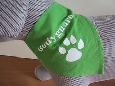 "Hundehalstuch in grün ""Bodyguard""  50 cm"
