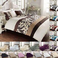 Luxury duvet cover set single double super king  pillowcases poly cotton bedding