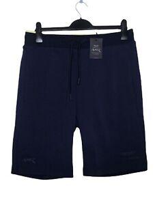 Hackett Mens Shorts Aston Martin Size M Jersey Navy Blue Drawstring Waist NEW