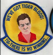 USAF TEST PILOT CLASS 11A  PATCH     'WE'VE GOT TIGER BLOOD! '             COLOR