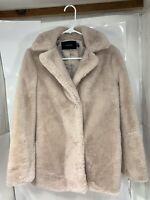 "Tahari Womens Faux Fur Jacket Pale Pink Size Small S Coat ""6829427M"""