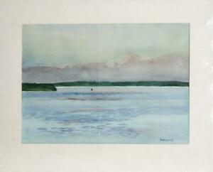 Charles S. Duback, Mid Channel - Saint George River, Maine, Watercolor on Paper