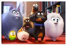 Quadro moderno PETS vita da animali max duke gidget stampa film canvas 60X100