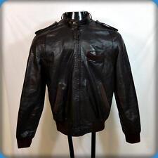 Vtg 80s MEMBERS ONLY Cafe Racer Leather MOTORCYCLE Biker JACKET Mens 40 M Brown