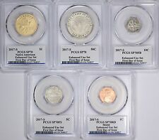 2017 S 225th Anniversary Enhanced Unc Set LIVE IN HAND PCGS SP70 10 Coin Set