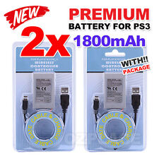 2x PS3 Wireless Controller Battery for Playstation 3 Li-ion Battery 4.2V 1800mAh