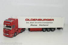 TEKNO SCANIA R500 TRUCK WITH TRAILER OLDENBURGER NEAR MINT CONDITION CODE 3
