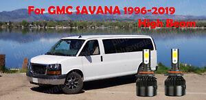 LED For GMC SAVANA 1996-2019 Headlight Kit 9005 HB3 White CREE Bulbs HIGH Beam