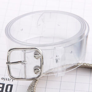 Women's Transparent Waist Belt Waistband Buckle Design Clear Jeans Belt