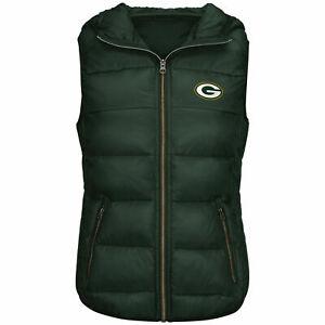 G-III 4her Green Bay Packers Women's Free Agent Packable Vest - Green