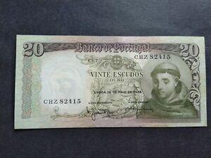 PORTUGAL 20 ESCUDOS 1964 CHZ BANKNOTE