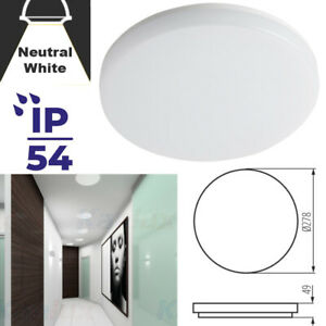 LED 18W Round Wall Ceiling Mounted Neutral White IP54 Outdoor Waterproof Light