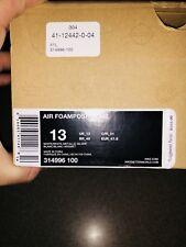 Nike Air Foamposite One White Out White Metallic Silver size 13 DS