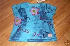 REPLAY handbemaltes Blumen-T-Shirt Gr. 12 M - 4 J NEU