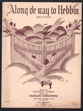 Along De Way To Hebbin 1937  Sheet Music