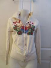 WOMENS LUCKY BRAND BEIGE/MULTI COLOR SWEAT SHIRT - SIZE M
