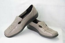 HOTTER Calypso Womens 11 Comfort Concept Slip on Loafers Taupe Metallic Q50