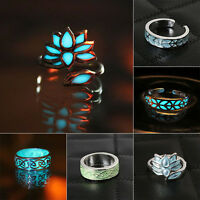 Hot Vintage Lady Rings Glow in the Dark Fashion Women Luminous Ring Gift Jewelry