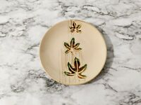 "Pier 1 Autumn Leaves - 8 1/2"" Stoneware Salad Plate Hand Painted"