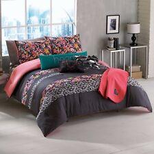 6-Pc Roxy Samantha Floral Twin/Twin XL Comforter Set Girl's Dorm Polka Dots Gray