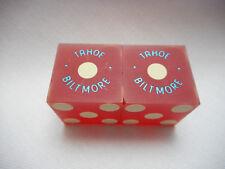 Pair of TAHOE BILTMORE Casino Dice - Matte Red, No #s