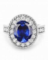 2.20 Carat 18KT White Gold Natural Blue Tanzanite EGL Certified Diamond Ring