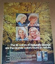 1975 vintage ad page - Clairol Naturally Blonde GIRLS hair color PRINT AD
