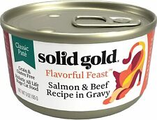 New listing Solid Gold Pate In Gravy Wet Cat Food; Flavorful Feast With Real