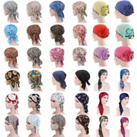 Women's Cancer Hat Chemo Cap Muslim Hair Loss Head Scarf Turban Head Wrap Cover