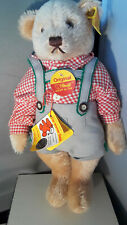 STEIFF  German Dressed Boy Teddy Bear 11 inch Blonde mohair 0276/28 1970's