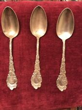 "3 LOUVE SPOONS BY WALLACE 6 5/8"" MONOGRAM EMH"