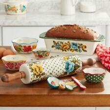 Bakeware Combo Set Floral Dot Design Home Kitchen Tool Valentine Gift 10-Piece