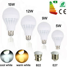 AU E27 B22 Bayonet 5W 9W 12W 15W LED Globe Bulb Light Lamp Warm/White AC220-240V