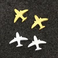 Women Christmas Gift Alloy Mini Plane Ear Studs Electroplating Earrings Jewelry