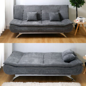 Upholstered Sofa Bed Sleeper Recliner Chair Beds 3 Seater Couch Settee Sofabed