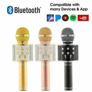 Wireless Microphone Bluetooth Mic Karaoke Singing Kids Music Toys Xmas Gifts Fun