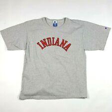 VTG 90s Champion Indiana University Men's Size XL Retro Gray Logo Sports T Shirt