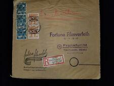 1948 Frankfurt Germany Multi Franking Overprint Photo Business Registered Cover