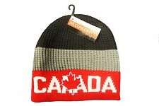 CANADA MAPLE LEAF RED GREY BLACK TOQUE HAT..FOR ADULTS.. MOMENTO