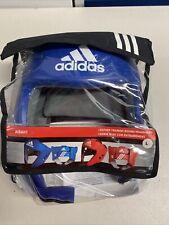 Adidas Leather Training Boxing Headgear AIBAH1 Blue Size Large