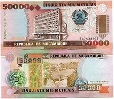 Mozambique 50 000 Meticais 1993 Uncirculated 5 X Consecutive Banknote Lot P138