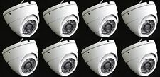 Set (8) HD-TVI 2.4MP 1080p HD  CMOS Outdoor IR Dome Security Cameras 3.6MM