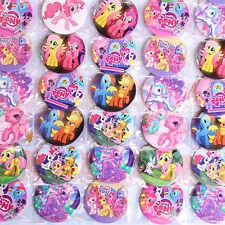 100pcs Fun My Little Pony Doll Figure Pin Button Brooch Badges Kids Boy Girl Toy
