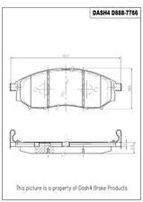 Disc Brake Pad Set-3.7 Front Dash 4 Brake CFD888